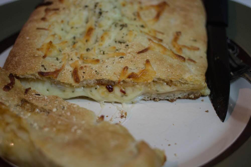 Homemade Calzone Cut Open