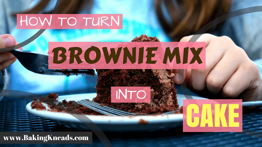 Brownie Mix into Cake