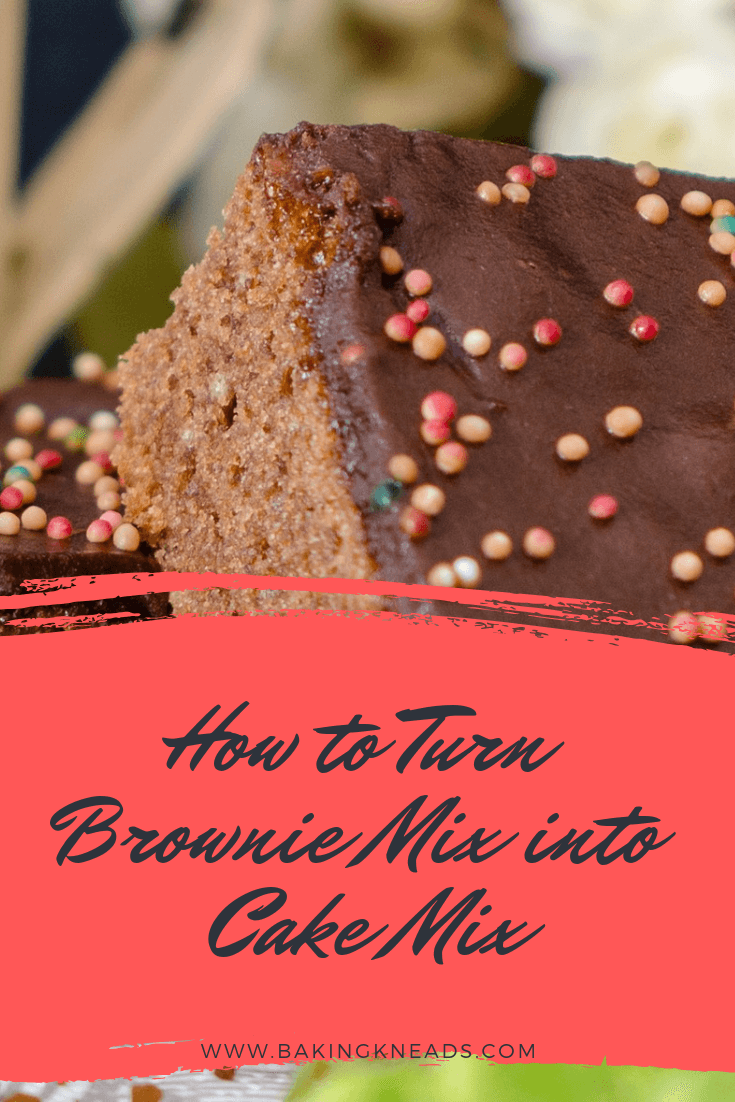 How to Turn Brownie Mix into Cake Mix