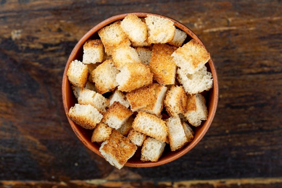 Bowl of Croutons