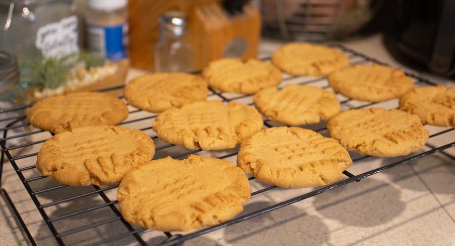 Baked Cookies on Rack