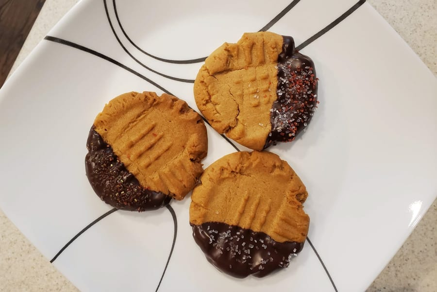 Dipped Cookies on Plate 2