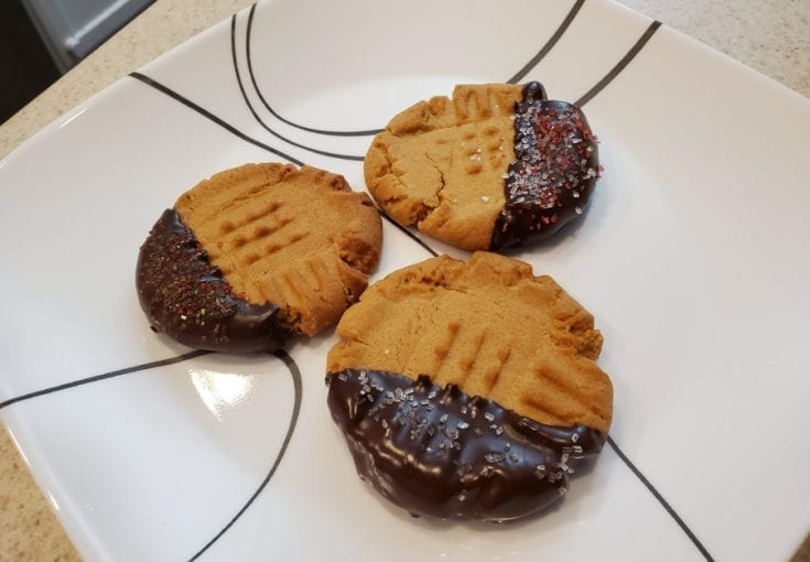 Chocolate Covered Peanut Butter Cookies