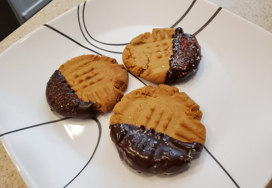 Dipped Cookies on Plate