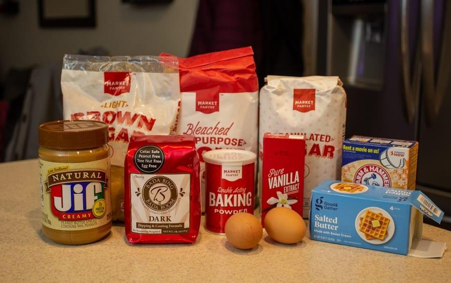 PB Cookie Ingredients