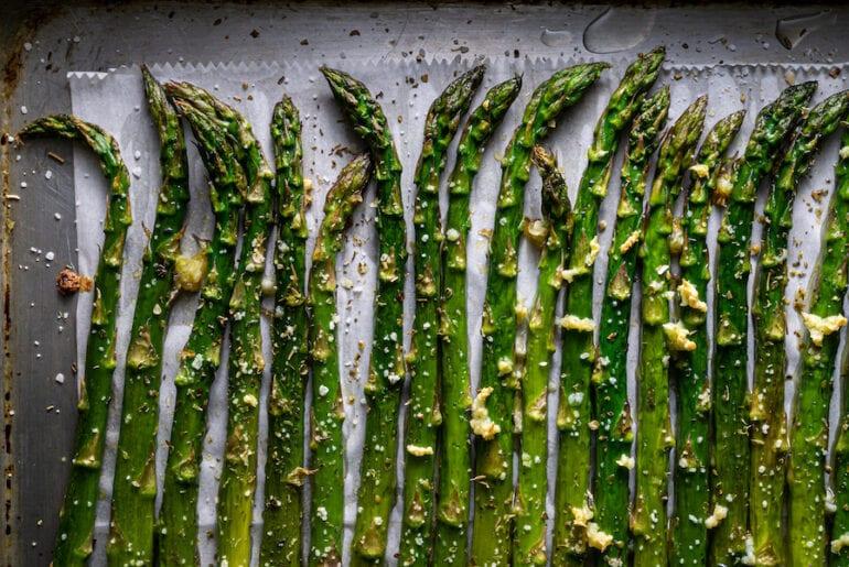 Roasted asparagus spears