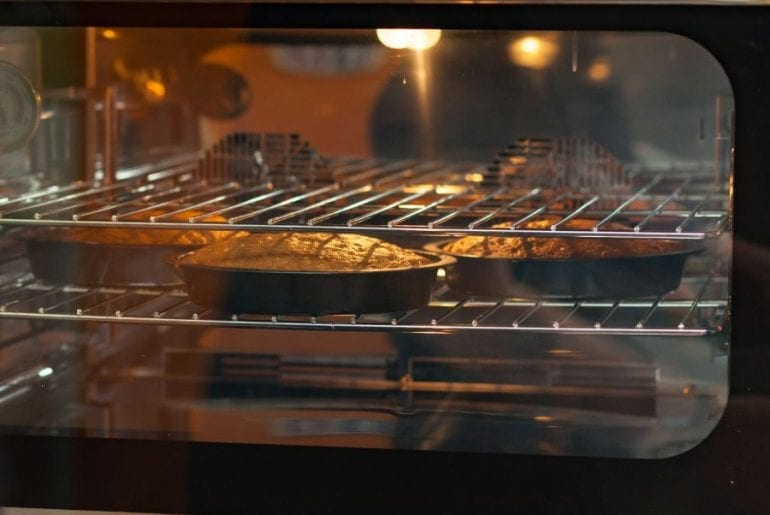 Cakes in Oven