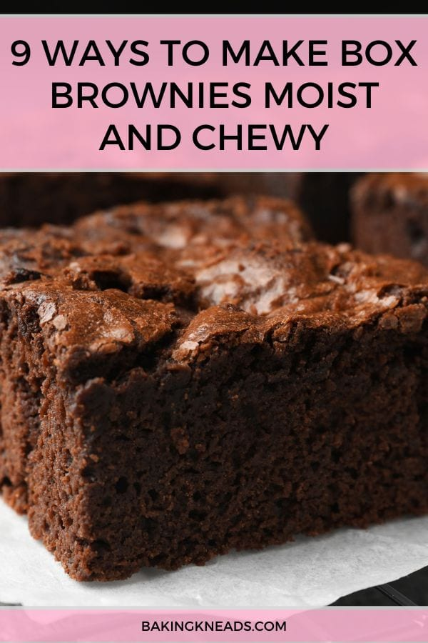 Moist and Chewy Box Brownies Pin