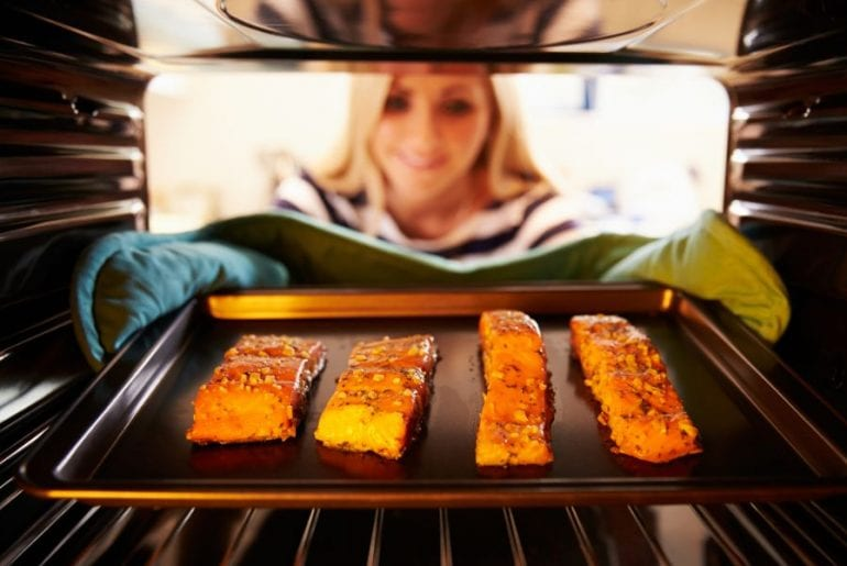 Salmon Fillets in an Oven