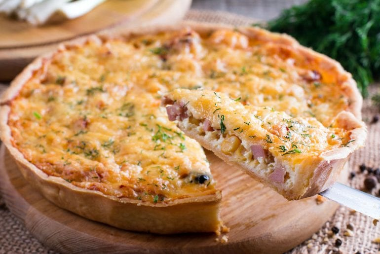 A piece of French quiche