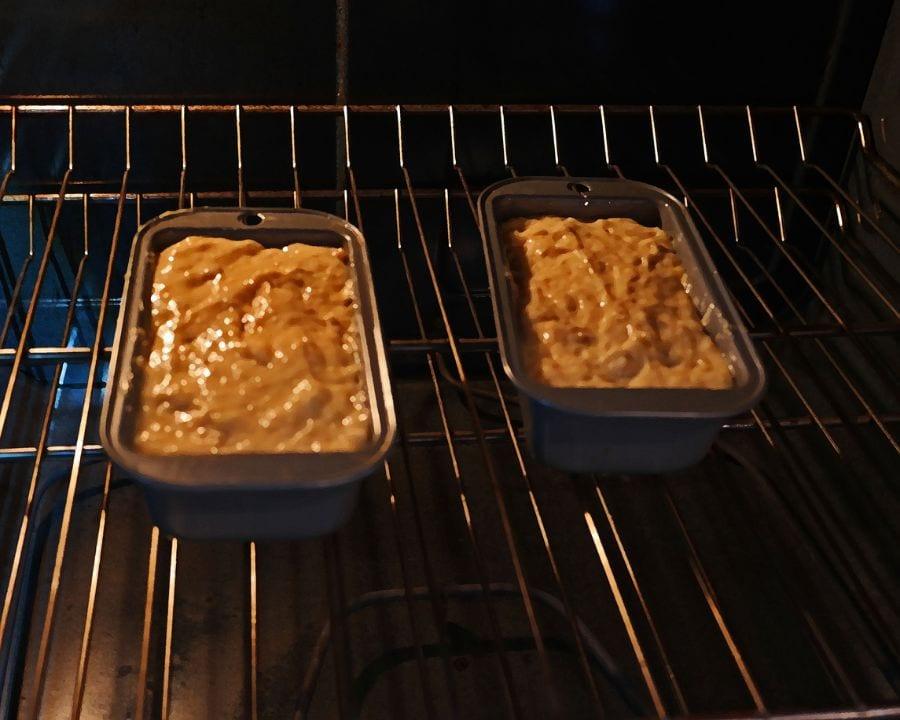 Banana Bread in Oven