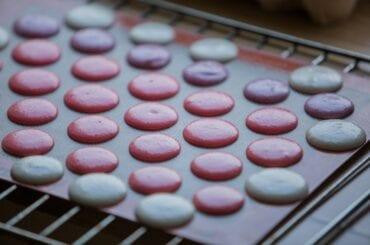 Macarons on Baking Sheet