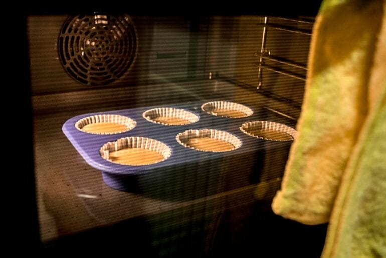 Muffins in Oven