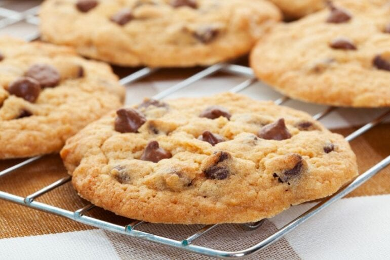 Thin Chocolate Chip Cookies