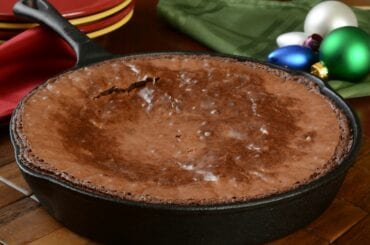 Fresh Baked Brownies in a Cast Iron Pan