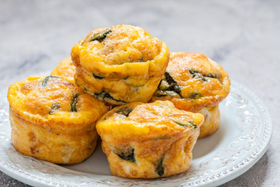 Egg Muffins on a Plate