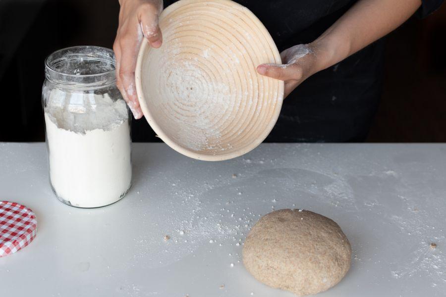 Flour in Banneton