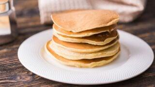 Homemade Pancakes on White Plate